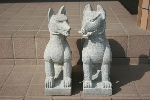 【送料無料】キツネセット(1対)【五穀豊穣】【神の使い】と言われています!!狐の置物