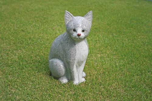 【送料無料】【新商品】御影石の猫【磨き仕上げ】【おススメ】