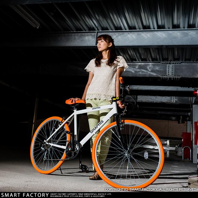 ★超級市場SALE半價以下的項目!★評論在在自行車GRAPHIS GR-001(10種)2013年最走俏了的交叉摩托車自行車2014年送男子女子可動6段新彩色26英寸不合規則地算式莖杆函售★手提包!