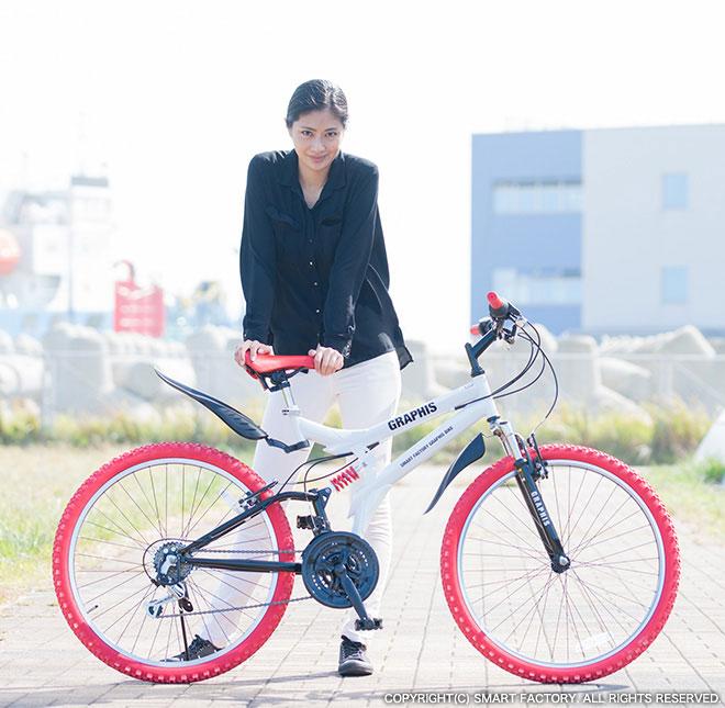 ★大促销!评论在再演一次价格★自行车山地车/MTB GRAPHIS GR-005(四色)2013年送制造齿轮全部的避震器自行车函售大减价★18段手提包(帆布背包)!
