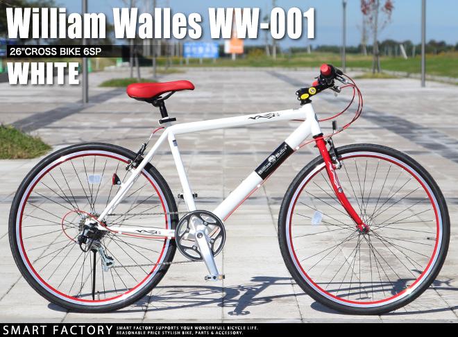 自行车 William Walles WW-001 (两个颜色) 2014年模型自行车 26 寸禧玛诺 6 速运动表达式所干的自行车男装女装商店折扣 ☆