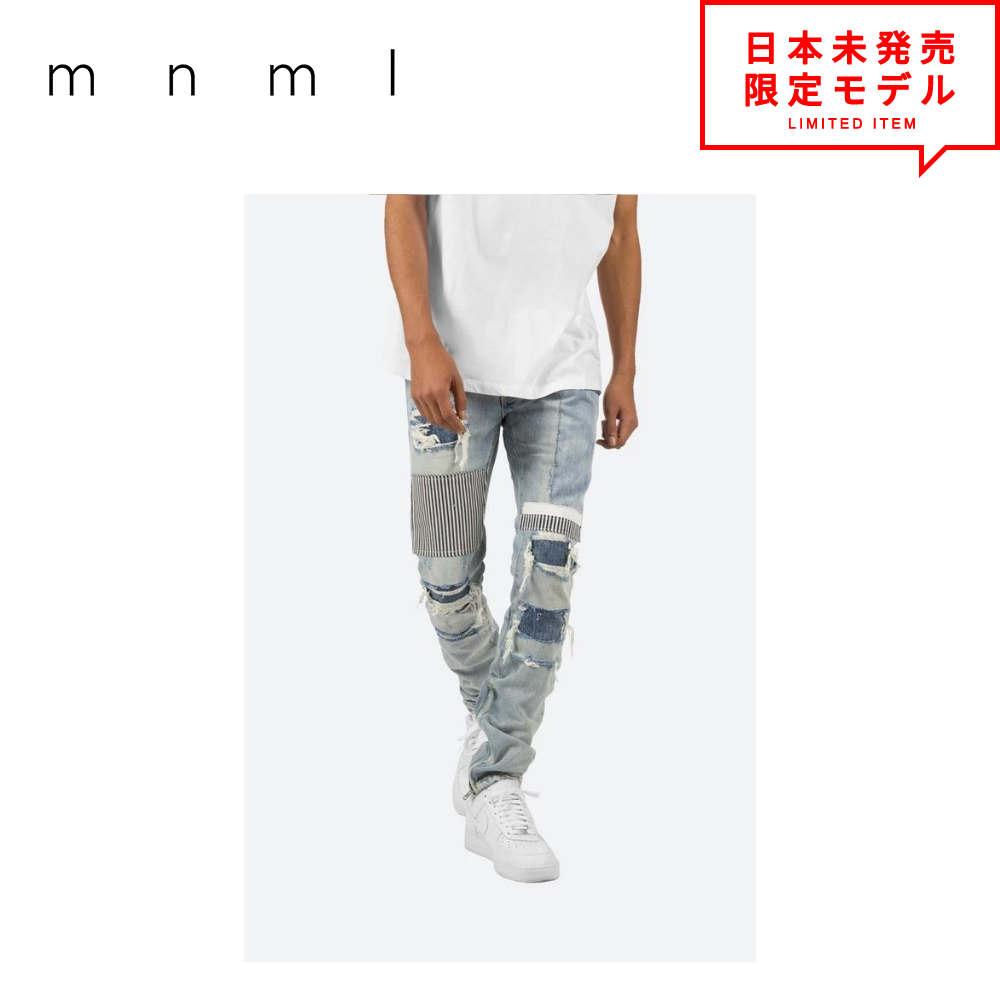 独特の素材 mnml デニムパンツ ミニマル ブルー デニムパンツ M74 M74 Denim 裾ジップ デニム パンツ ジーパン メンズ ブルー 日本未発売, 中西武道具:d18e164b --- mag2.ensuregroup.ca