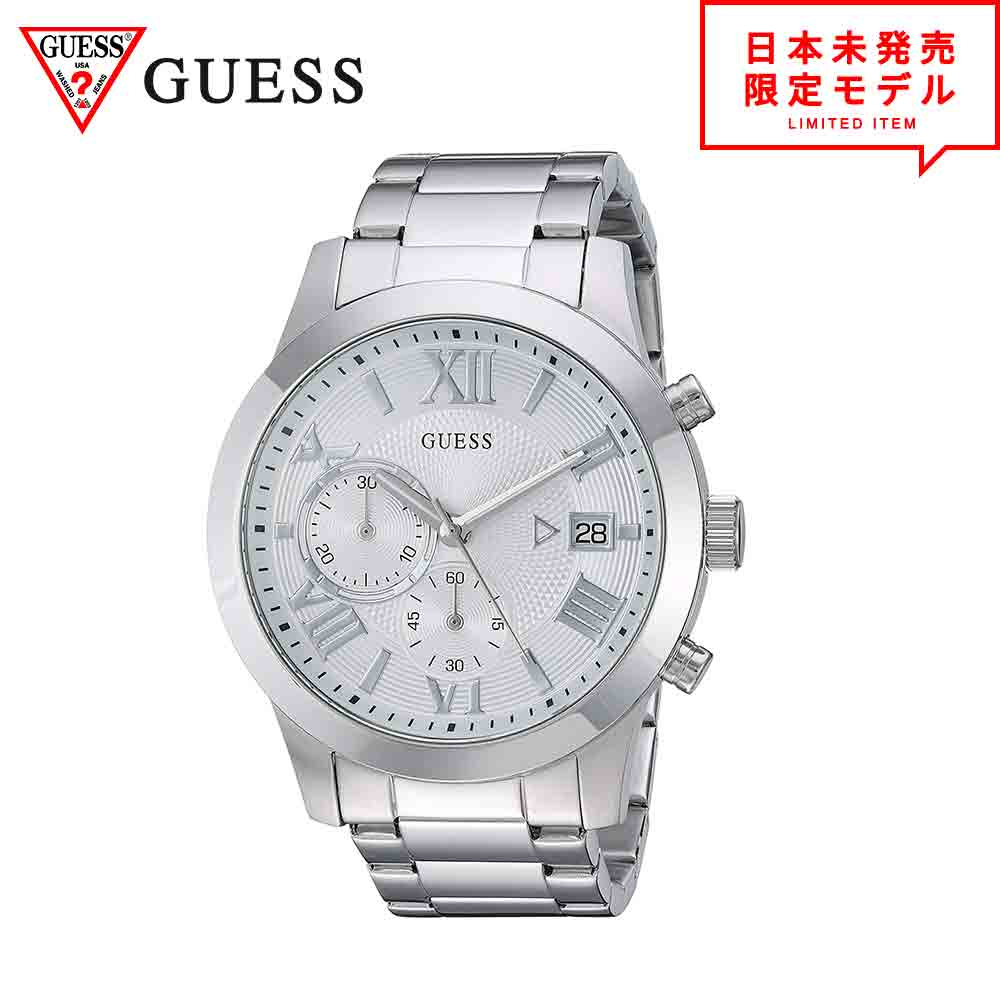 最も完璧な GUESS ゲス メンズ 腕時計 クロノグラフ アナログウォッチ リストウォッチ シルバー 海外限定 日本未発売 当店1年保証, ayanas 8669877d