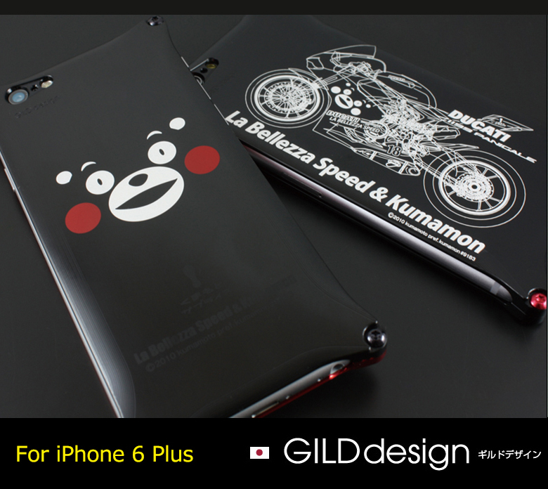 【iPhone6Plus/iPhone6sPlus対応 アイフォンケース/くまモン/ラ・ベレッツァ/ギルドデザイン】GILDdesign 《くまモン×ラ・ベレッツァコラボケース/くまモンモデル/バイクモデル/おしゃれ/かっこいい》【送料無料】【gkl-250】