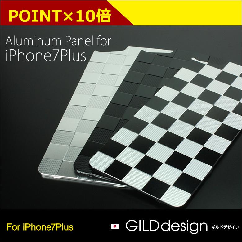 背板镀金设计协会设计铝面板市松 iPhone 7 加固体保险杠为 /GI-310