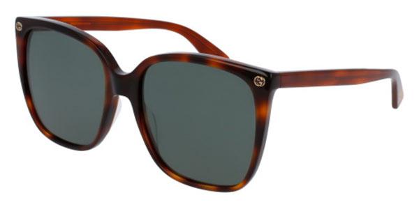 【海外直送】Gucciグッチ レディース サングラスGucci GG0022S 57サイズ 正規品 安い ケース&クロス付UVカット 紫外線カット