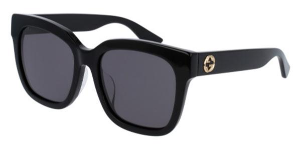 【海外直送】Gucci グッチ レディース サングラス Gucci GG0034SA Asian Fit 55 サイズ 正規品 安い ケース&クロス付