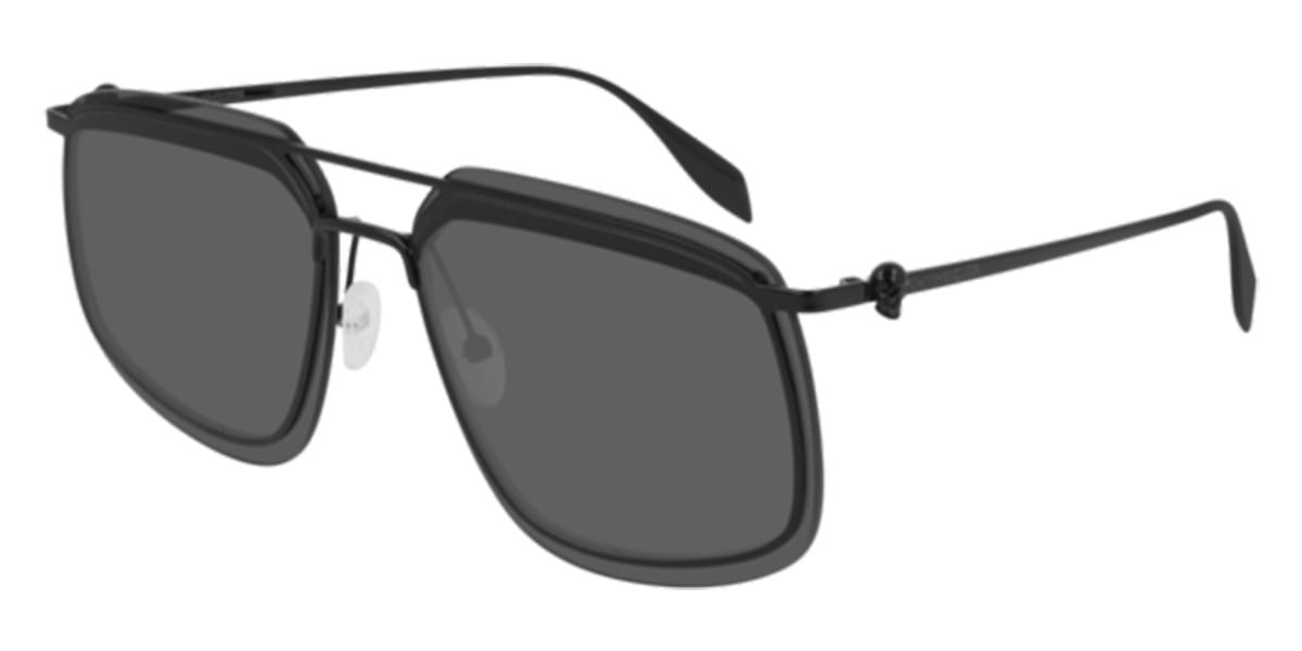 【海外直送】Alexander McQueenアレクサンダーマックイーン メンズ サングラスAlexander McQueen AM0221SK Asian Fit 002 64サイズ 正規品 安い ケース&クロス付 超 軽量 薄い