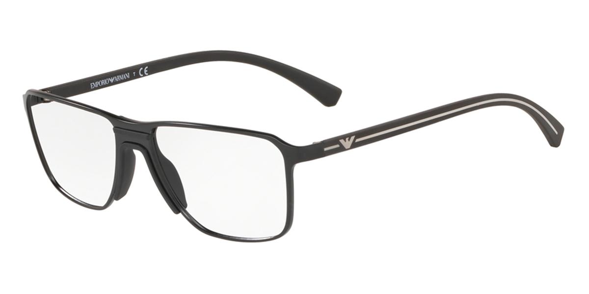 【海外直送】Emporio Armaniエンポリオアルマーニ メンズ メガネEmporio Armani EA1089 56サイズ 正規品 安い ケース&クロス付 超 軽量 薄い