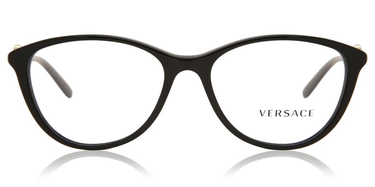 【海外直送】Versaceヴェルサーチ レディース メガネVersace VE3175 GB1 54サイズ 正規品 安い ケース&クロス付