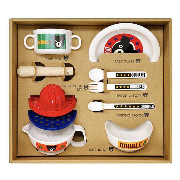 ミキハウス ダブルB テーブルウェアセットM 66-7001-369【ラッキーシール対応】