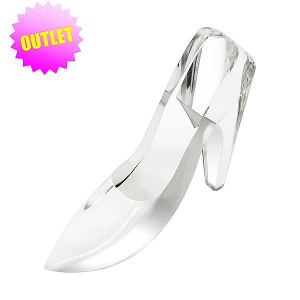 【DISNEY】 リゾートお土産袋付き♪ クリヤー ディズニー ガラスの靴 (約20cm) LLサイズ シンデレラ城 ハート シンデレラ