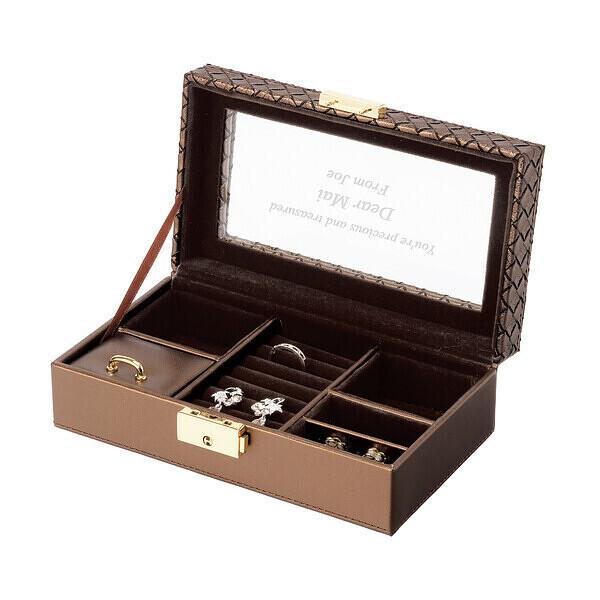 彼女や娘の二十歳の誕生日プレゼントにメッセージを入れたジュエルケース ホワイト Sで一生の宝箱に。【ラッキーシール対応】