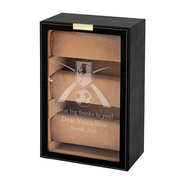 【送料無料】おしゃれな時計収納 ウォッチタワー ビッグフェイスの腕時計も飾りながらしまえる名入れケース【ラッキーシール対応】