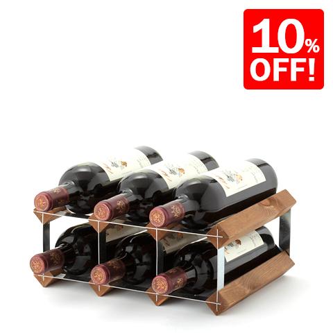4d5f1447dd Smart Kitchen: Traditional 6 bottle wine rack for fs3gm | Rakuten ...