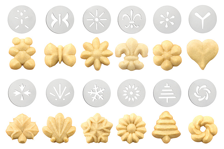 Smart Kitchen Oxo Cookie Press With 12 Kinds Of Disks
