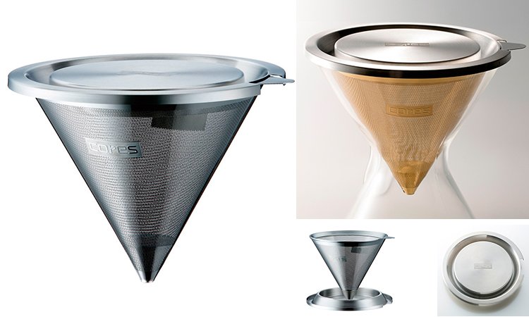 芯锥不锈钢过滤器 (为 1 到 8 杯) / CK