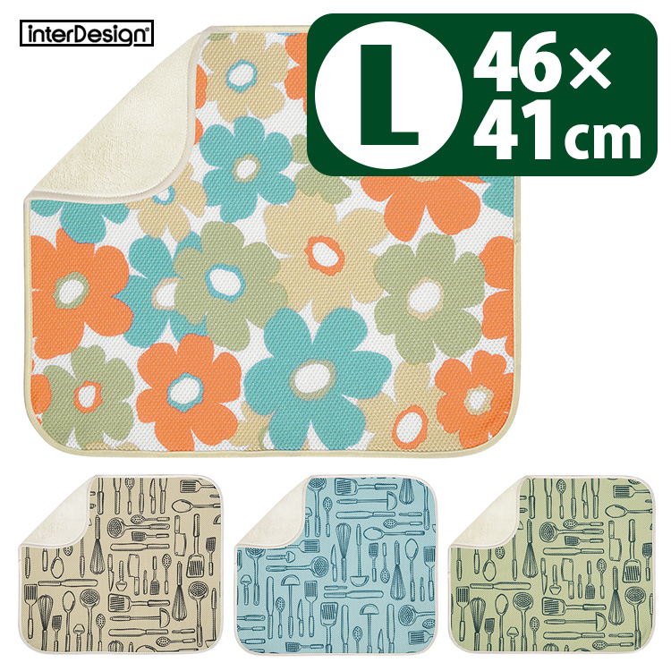 L fs3gm with interDesign gong Inge mat, the pattern