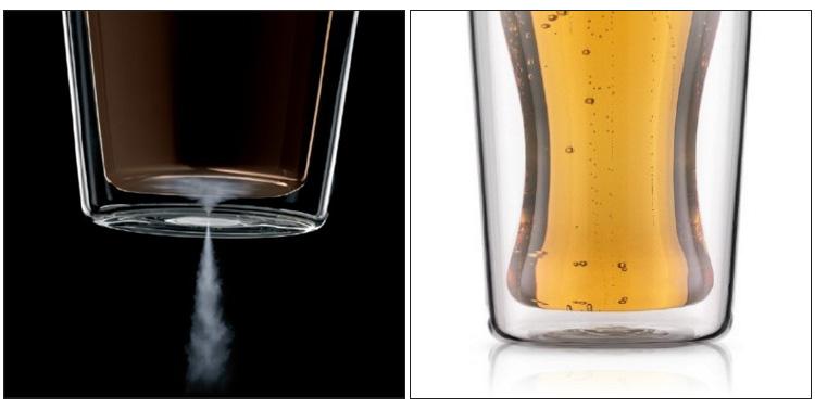 布杜姆头骨 0。 35 L 双薄壁玻璃粘贴和波顿 SKAL