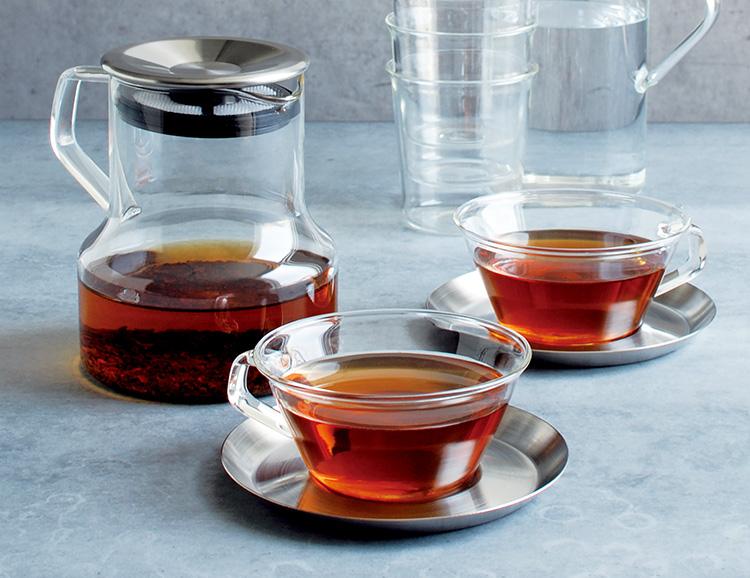 亲戚铸铸茶杯与碟不锈钢 / 亲戚