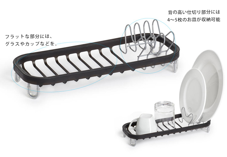 Umbra SINKIN dish rack Dish drainer products list  sc 1 st  Rakuten & Smart Kitchen | Rakuten Global Market: Umbra SINKIN MINI thinking ...