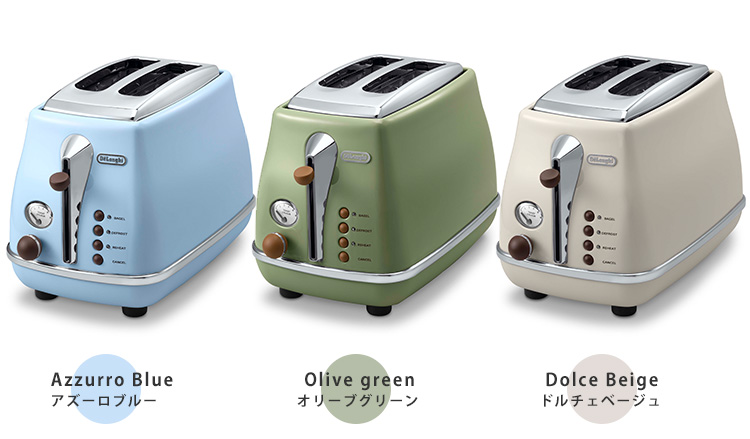 Delonghi icon and vintage popup toaster / delonghi