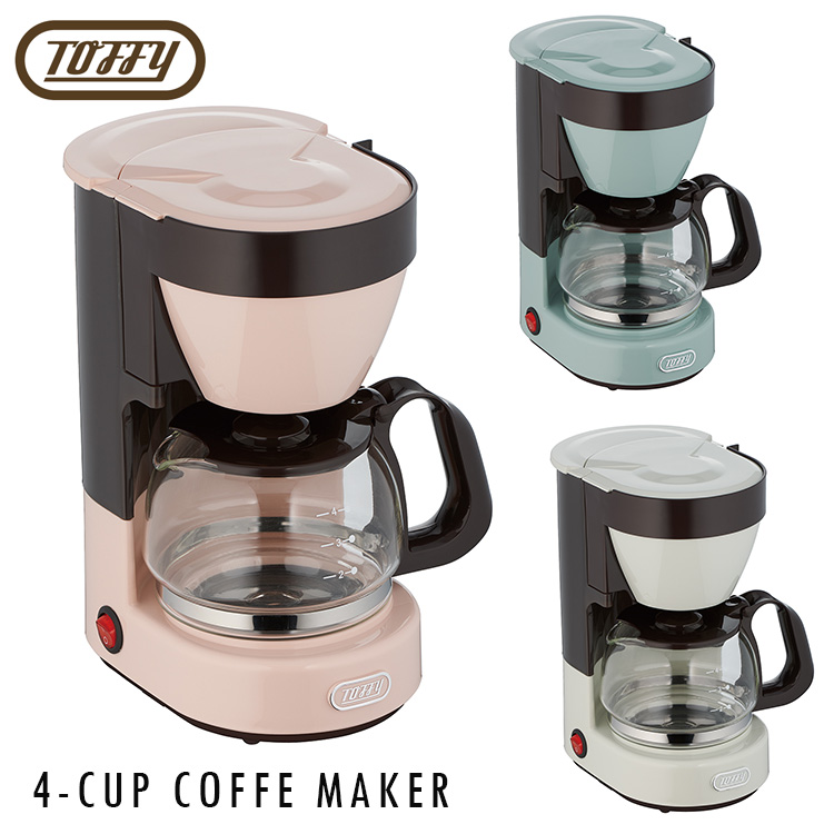 Toffy 4 Cup Coffee Maker Toffee