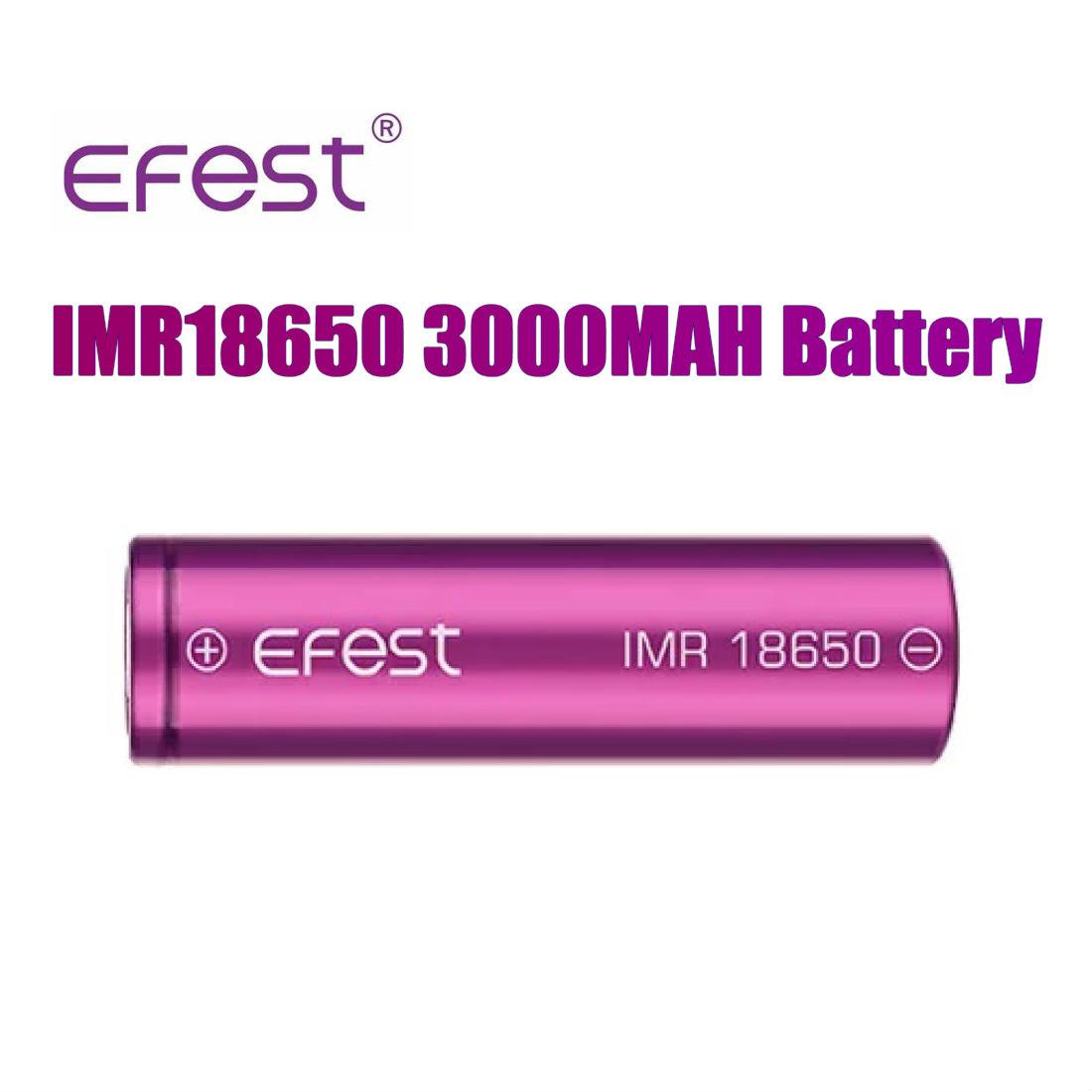 メール便で送料無料 Efest IMR 本物 18650 日本産 3000mAh 35A フラットトップバッテリー 1本 PSE 個別ケース入り イーフェスト