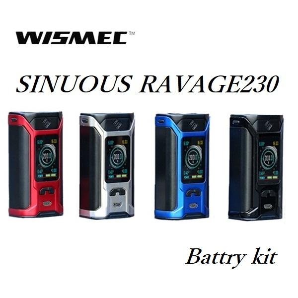 【あす楽】WISMEC SINUOUS RAVAGE 230 Batteryウィズメック シニュアス ラヴィッジ 230 バッテリー 電子タバコ 電子たばこ VAPE MOD