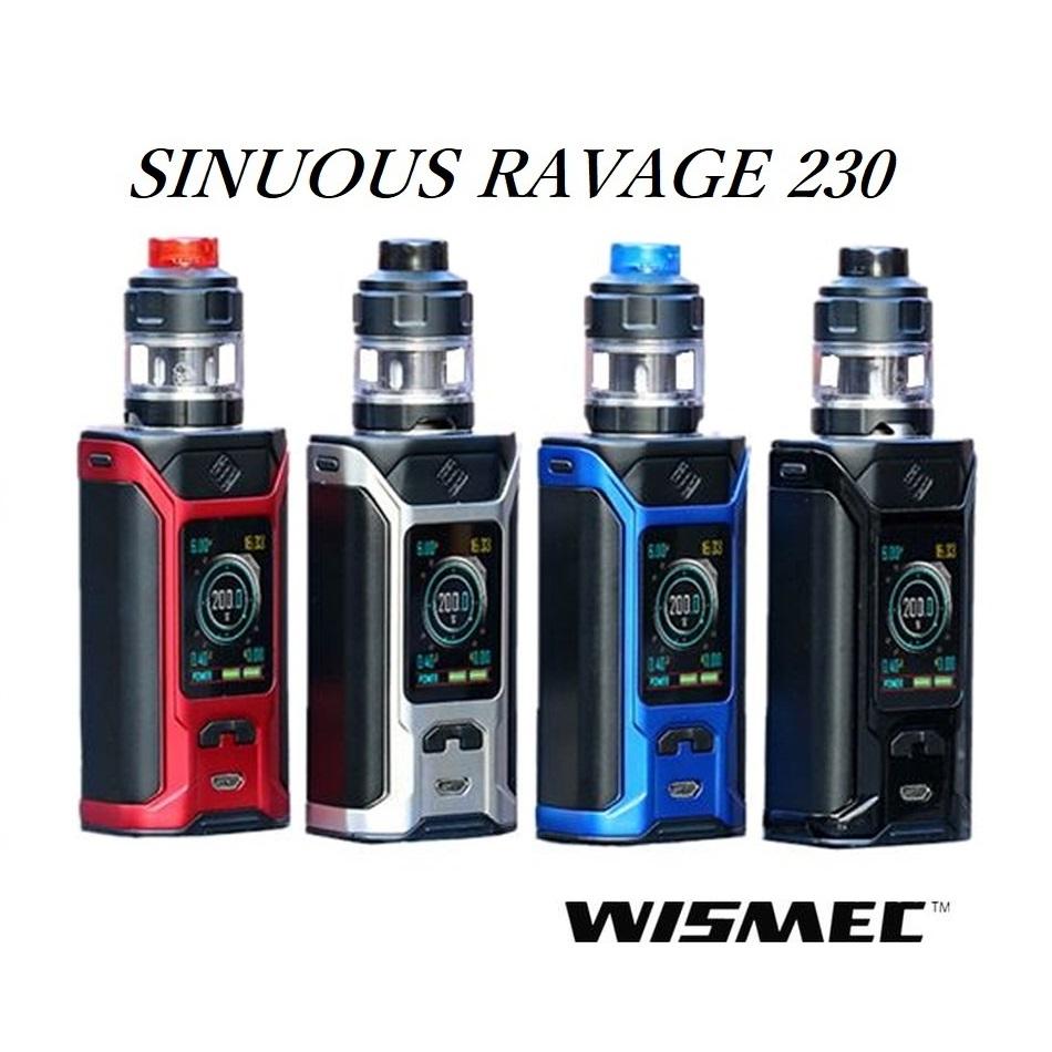 【あす楽】【送料無料】WISMEC SINUOUS RAVAGE 230ウィズメック シニュアス ラヴィッジ 230電子タバコ 電子たばこ セット VAPE MOD