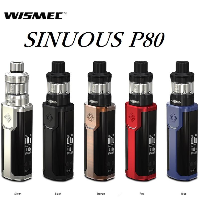 【あす楽】【送料無料】【電池付】WISMEC SINUOUS P80 ELABO miniウィズメック [シニュアスP80+エラボミニキット]電子タバコ 電子たばこ セット VAPE MOD