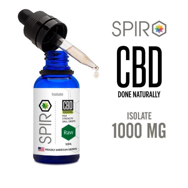 Spiro Isolate CBD 1000mg OralDrops 30ml THC FREE スピロ オーラルドロップス アイソレート高濃度CBDリキッド 経口摂取用