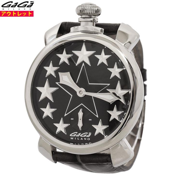 ガガミラノ 腕時計 新品・あす楽・アウトレット 5010.STARS.01 マヌアーレ 48mm スター 星 マニュアーレ 手巻き スイス製 メンズ