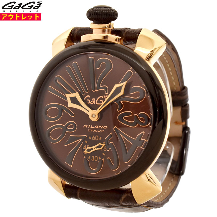 ガガミラノ 腕時計 新品・あす楽・アウトレット 5014.02S マヌアーレ 48mm マニュアーレ 手巻き スイス製 メンズ