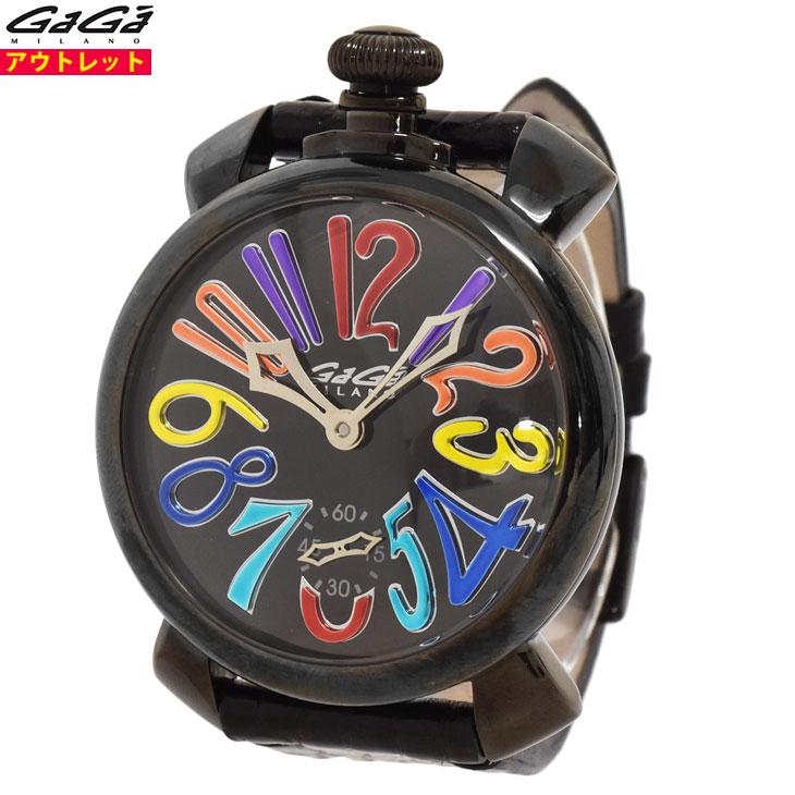 ガガミラノ 腕時計 新品・あす楽・アウトレット 5213.MIR.01S 500本限定 マヌアーレ 48mm ミラー MIRROR マニュアーレ 手巻き スイス製 メンズ