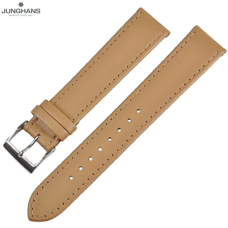 ユンハンス マックスビル用 純正 替ベルト 新品 18mm ベージュ レザー 革ベルト 腕時計用 レターパックプラスで送料無料