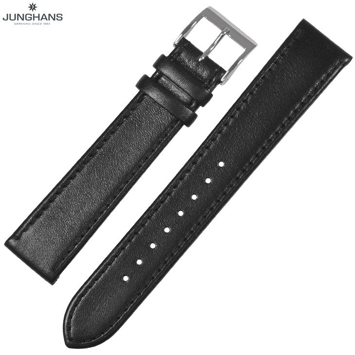 ユンハンス マックスビル用 純正 替ベルト 新品 18mm ブラック レザー 革ベルト 腕時計用 レターパックプラスで送料無料