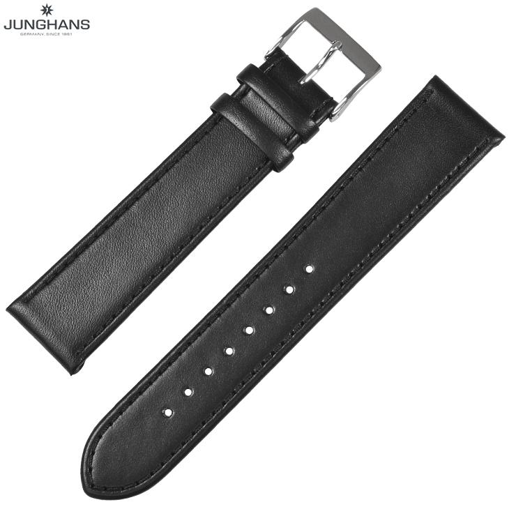 ユンハンス マックスビル用 純正 替ベルト 新品 20mm ブラック 黒 レザー 革ベルト 腕時計用 レターパックプラスで送料無料