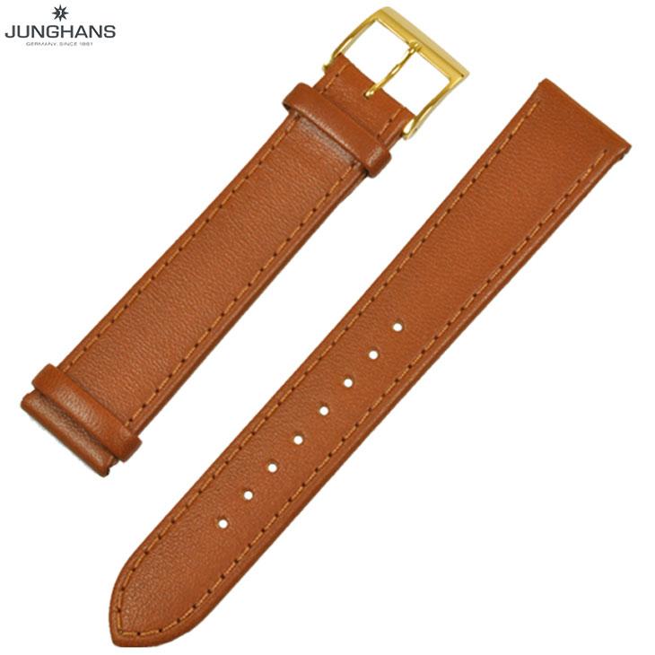 ユンハンス マックスビル用 純正 替ベルト 新品 18mm キャメル レザー 革ベルト 腕時計用 レターパックプラスで送料無料