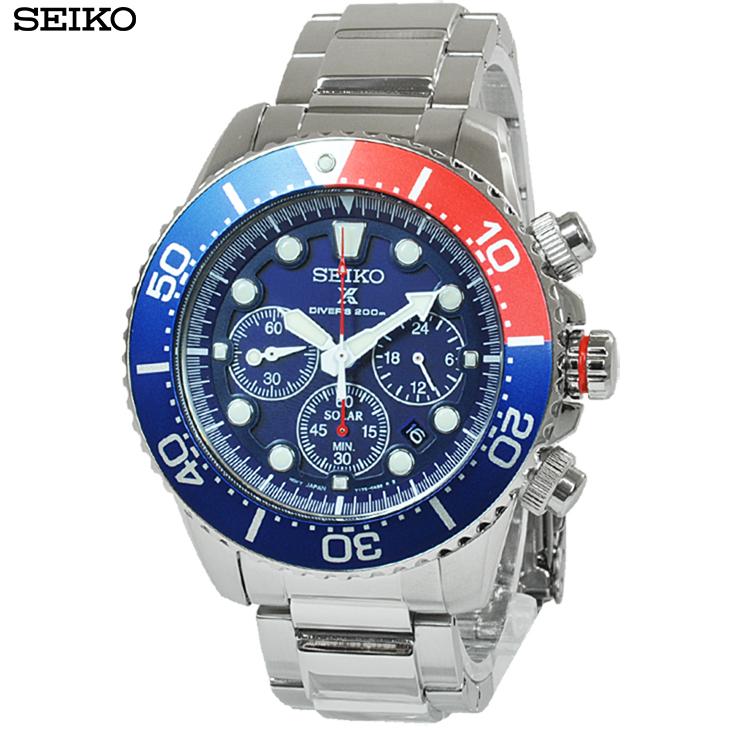 セイコー 腕時計 SSC019P1 プロスペックス ブルー×レッド
