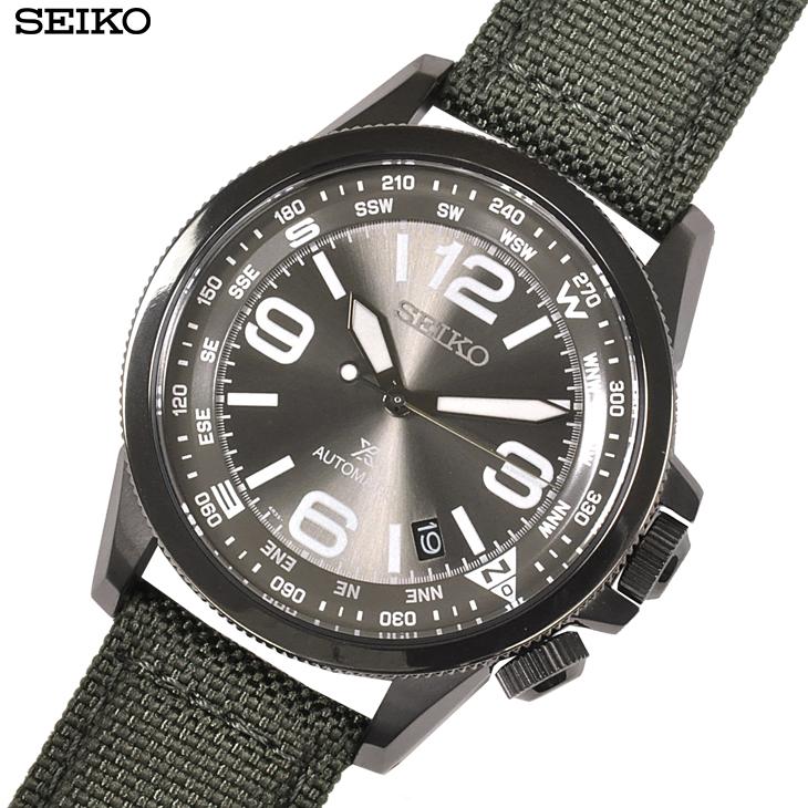 【あす楽】 SEIKO セイコー 腕時計 SRPC29K1 プロスペックス PROSPEX オートマチック 自動巻き グレー クロス×レザー メンズ 両回転インナーベゼル【逆輸入】【時計】【海外モデル】【緑】【ガンメタル】
