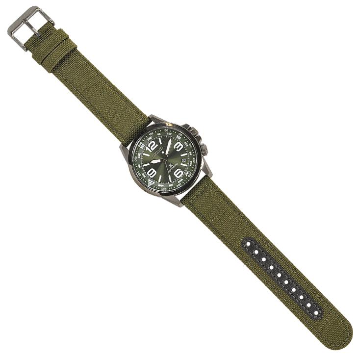 【あす楽】 SEIKO セイコー 腕時計 SRPC33K1 プロスペックス PROSPEX オートマチック 自動巻き グリーン クロス×レザー メンズ 両回転インナーベゼル【逆輸入】【時計】【海外モデル】【緑】【カーキ】
