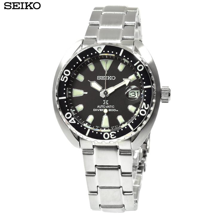セイコー 腕時計 SRPC35K1 新品・あす楽 プロスペックス ミニタートル ダイバーズ 自動巻き ブラック