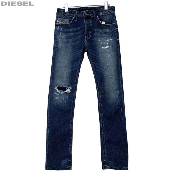 DIESEL ディーゼル 新品 ジョグジーンズ ダメージ加工 メンズ デニム パンツ THAVAR-NE 00S5BL R266L 01 サイズ 26 28 30 32 34 ジョグデニム レターパックプラスで送料無料