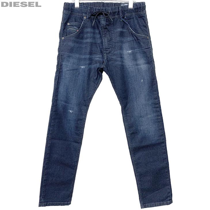 DIESEL ディーゼル 新品 ジョグジーンズ ダメージ加工 メンズ デニム パンツ KROOLEY R-NE 00S6DD 0685K 01 サイズ 28 30 32 34 ジョグデニム レターパックプラスで送料無料
