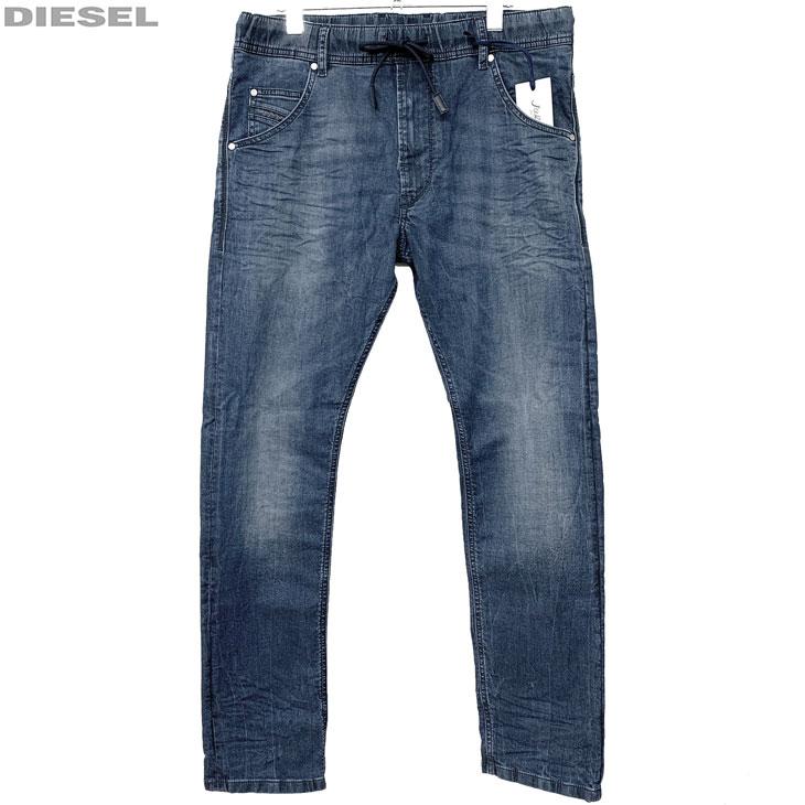 DIESEL ディーゼル 新品 ジョグジーンズ ダメージ加工 メンズ デニム パンツ KROOLEY R-NE 00S6DD 069BI 01 サイズ 26 28 30 32 34 ジョグデニム レターパックプラスで送料無料