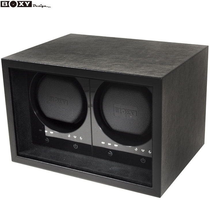 新商品!BOXY Design ボクシー デザイン 新品・あす楽 SE02-BK SAFE ECO 2本巻き タッチパネル アダプター付き ウォッチワインダー 【腕時計】【時計】【調整】【メンズ】