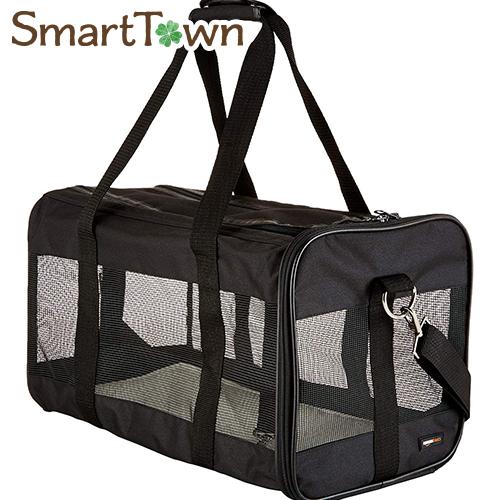 こちらはハードダメージ商品です5 980円以上のお買い上げで送料無料 新作 ※ダメージ有り Amazonベーシック Lサイズ 爆安 ペット用 ソフトキャリーバッグ