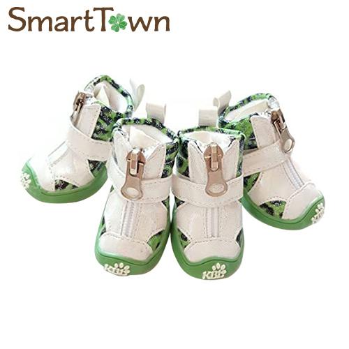 信用 5 980円以上のお買い上げで送料無料 2020 ドッグブーツ 犬用靴 XS グリーンヒョウ柄