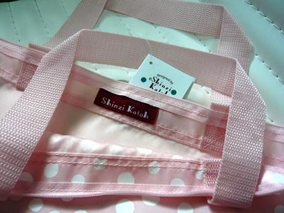 Dot柄拉链商品袋Shinzi Katoh Design zipper shopping bag